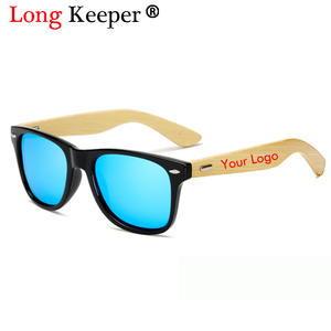 Wood Sunglasses Custom-Logo Bamboo Wholesale Men Women Original New Product Foot 20pcs/Set