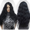 2016 Charming Cosplay Black Wigs Long Wave Synthetic Wig Women 65cm Good Quality Natural Cheap Hair Wig Best Seller WM0612392