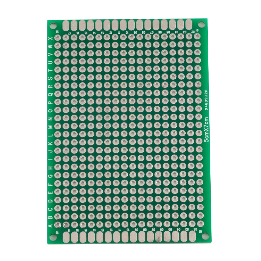 2017 Newest Double Side Prototype PCB Tinned Green Universal Breadboard 5x7cm