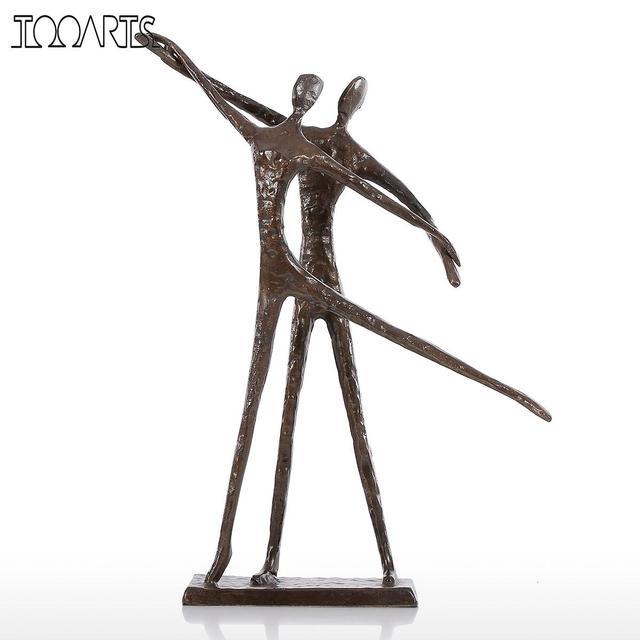 Tooarts Double Figurines De Danse Moderne Bronze Sculpture Statuette ...