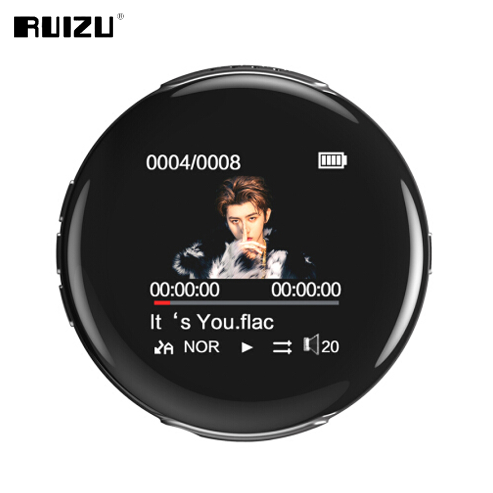 New Original RUIZU M1 Bluetooth Sport MP3 Player Portable Audio 8GB with Built-in Speaker FM E-Book Radio APE Flac Music Players
