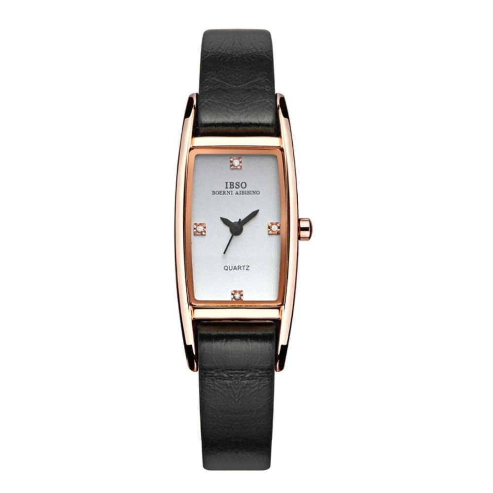 IBSO Elegante Uhren für Frauen Silber Zifferblatt Edelstahl Analog Quarzuhr 3921