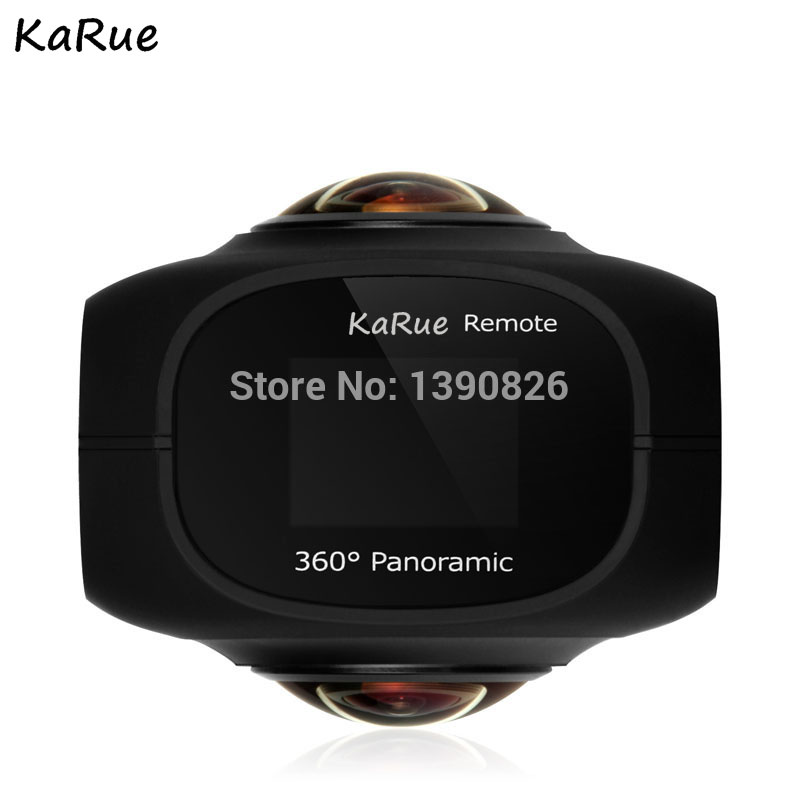 KaRue 4K panoramic camera VR HD dual lens 360 degree motion camera 720 degree outdoor camera insta360 nano 3k hd 360 panoramic camera vr camera 210 degree dual wide angle fisheye lens 360 camera for iphone 7 7 6 6s 6