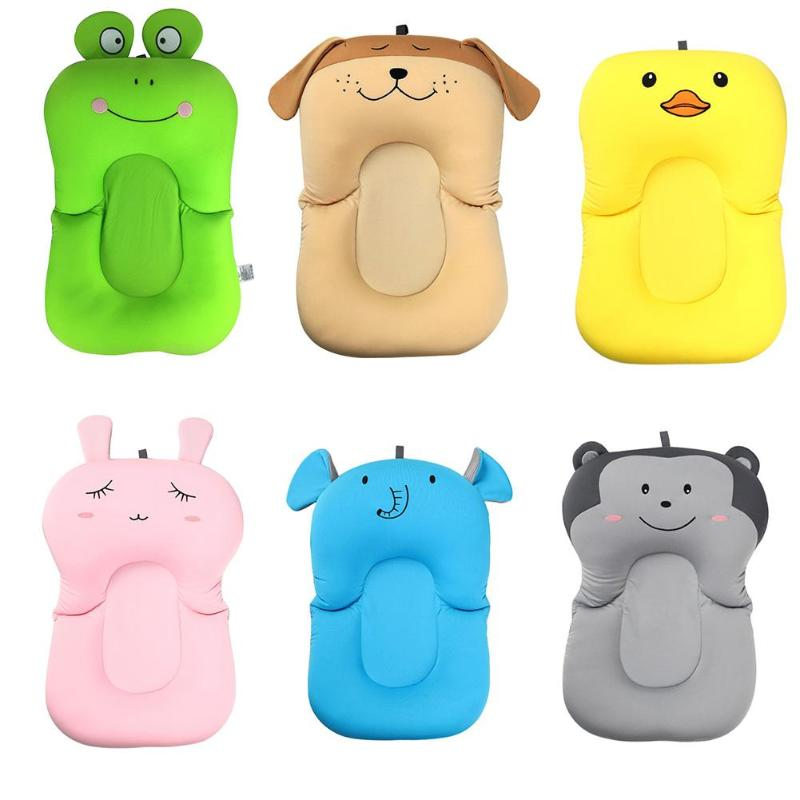 2019 New Baby Shower Portable Air Cushion Bed Babies Infant Baby Bath Pad Non-Slip Bathtub Mat NewBorn Safety Security Bath Seat