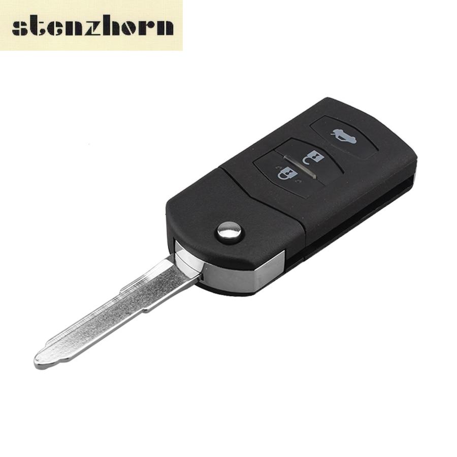 купить Stenzhorn Replacement Flip Key Shell For MAZDA 2 3 5 6 RX8 MX5 Car Styling Remote Key Case Fob Cover 2/3 Buttons Black по цене 157.07 рублей