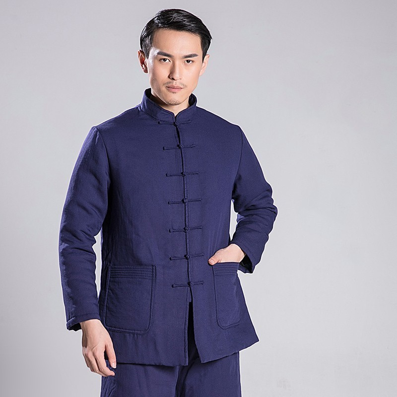 купить Tai Chi Uniform Men And Women Hanfu Winter Thickening Robe Taiji Boxing Clothing Loose Coat по цене 5636.99 рублей