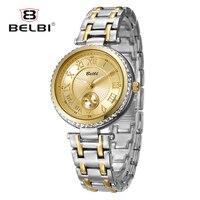 Belbi роскошные женские наручные часы Мода цифровой дизайн передач циферблат Ретро сплава кварцевые батареи Изысканный наручные часы женски