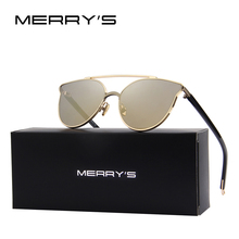 MERRY'S 2017 New Arrival Fashion Women Classic Brand Designer Cat Eye Sunglasses Integrated Eyewear S'8100
