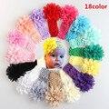 NOVA Bebés Meninas Lace Headband Chiffon Flor Headband Infantil Cabelo Weave Banda crianças Acessórios de Cabelo Presentes de Natal 16 cores Estoque