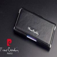 Brand New Pierre Cardin Case Cover For LG G3 G4 G5 G6 G7 V10 V20 V30 Genuine Leather Belt Clip Bag Universal Black Free Shipping