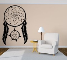 Free ShIpping Ethnic Feather Dreamcatcher Art Wall Sticker Home Living Room Mural Vinyl Removable Wallpaper Y-778