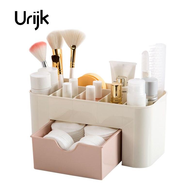 Urijk Mesa de Escritório Organizador de Gaveta De Armazenamento de Jóias Cosméticos Caixa De Maquiagem De Plástico Pincel de Maquiagem Batom Caixa De Armazenamento De Controle Remoto
