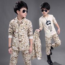 Фотография 2018 Autumn and Winter Boys Fashion  Desert Camouflage Suit Set Coat