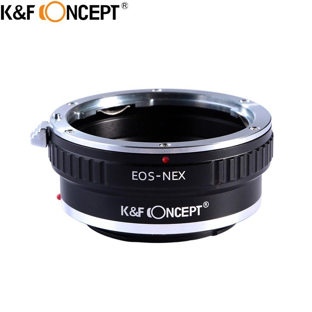 K & F concept Adaptadores para objetivos anillo para Canon EOS lente para Sony NEX cámara de montaje en e nex3 nex5 nex5n nex7 nex-c3 nex-f3 nex-5r