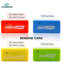 10pcs/lot EcoOBD2 For Benzine Chip Tuning Box NitroOBD2 Diesel Gasoline Plug & Driver Saving 15% Fuel Lower Emission