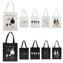 Sprzedawaj ze stratą! 2020 moda kobiety kreskówkowa torba na ramię torebka płótno plaża torba na ramię na zakupy zamek duże torby tanie tanio THINKTHENDO Na co dzień torebka Torby na ramię Na ramię i torebki CN (pochodzenie) Na płótnie zipper SOFT NONE Shoulder bag
