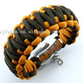 free shipping adjustable zinc alloy shackle king cobra weaving 550 survival paracord bracelet