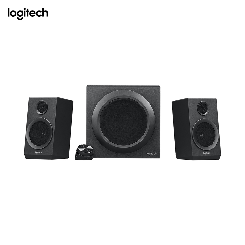 Logitech Z333 2.1 Speakers Easy access Volume Control Headphone Jack PC Mobile Device TV DVD/Blueray Player Game Console Compate