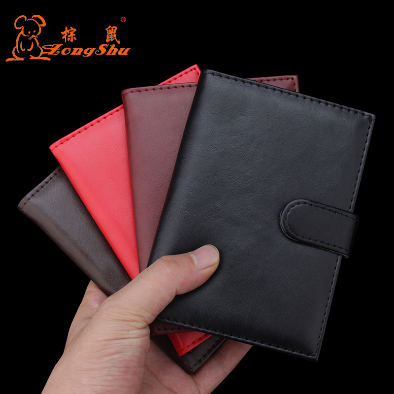 Solid Color Travel PU leather <font><b>Passport</b></font> Holder Driver License Cover Document Card cover wallet Protector (Custom accept) image