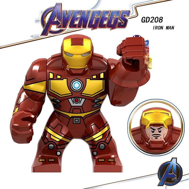 Single Sale Legoinglys Super Heroes Avengers Endgame Iron Man Action Mini Figures Model Set Building Blocks Toys Children Gifts