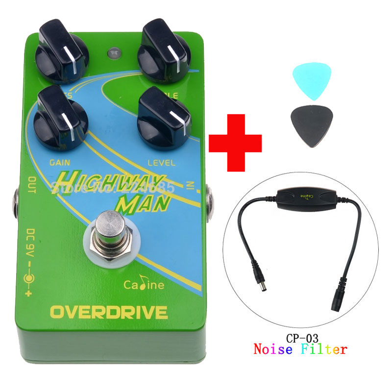 Caline CP-25 Overdrive OD Guitar Effect Pedal Green True Bypass Guitar Accessories and Caline CP-03 Noise Filter mooer green mile overdrive guitar effect pedal micro effectstrue bypass with free connector and footswitch topper