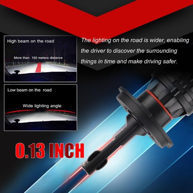 BraveWay lampe LED de voiture H7 16000LM H11 lampe à LED pour Voiture Phares Ampoules H4 H1 H8 H9 9005 9006 HB3 HB4 Turbo H7 ampoule LED 12V 24V 4