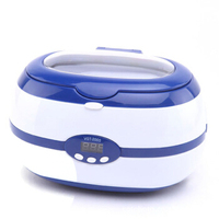 Home Automatic Ultrasound Cleaning Machine Glasses Sky Blue Ultrasonic Cleaner