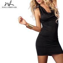 Nice-forever Summer Sexy Backless Bandage Accross vestidos Mini Club Wear Fitted Bodycon Woman Dress bty341(China)