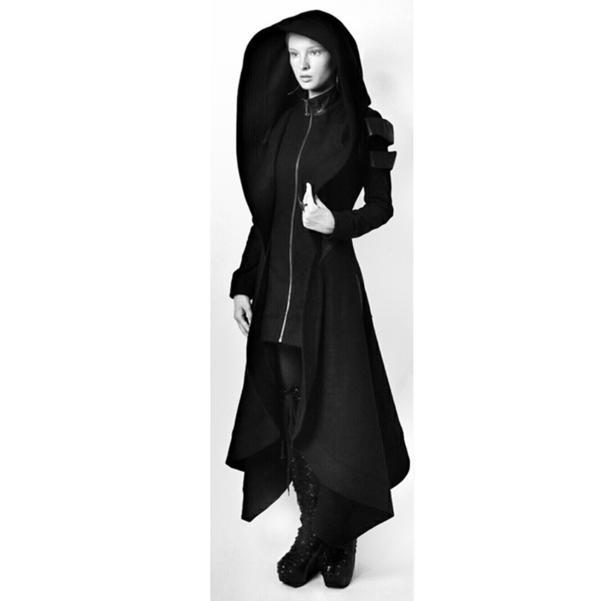 1a6774186dee Detail Feedback Questions about Women Steampunk Gothic Winter Coats Long  Sleeve Jacket With Hat Collar Cosplay Black Coat Medieval Noble Court  Princess ...