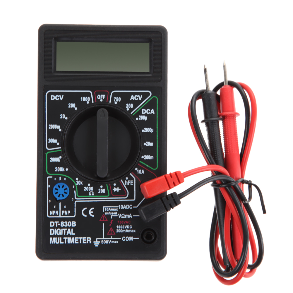 AC1000V DC 750 LCD Digital Multimeter with Test Leads Pin Wire Pen Cable Voltmeter Ammeter Ohm Tester Meter Digital Multimeter dt830b handheld digital multimeter electrician with a to send meter pen