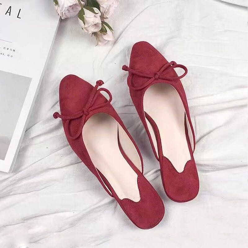 2017 Fashion Pumps Women Shoes  Casual  Shoes Small Square Toe Low Heels Mules Comfortable Slippers Classics Butterfly-knot 2017 fashion women pumps casual shoes pointed toe low heels mules double strap slip on slippers button leisure shoes