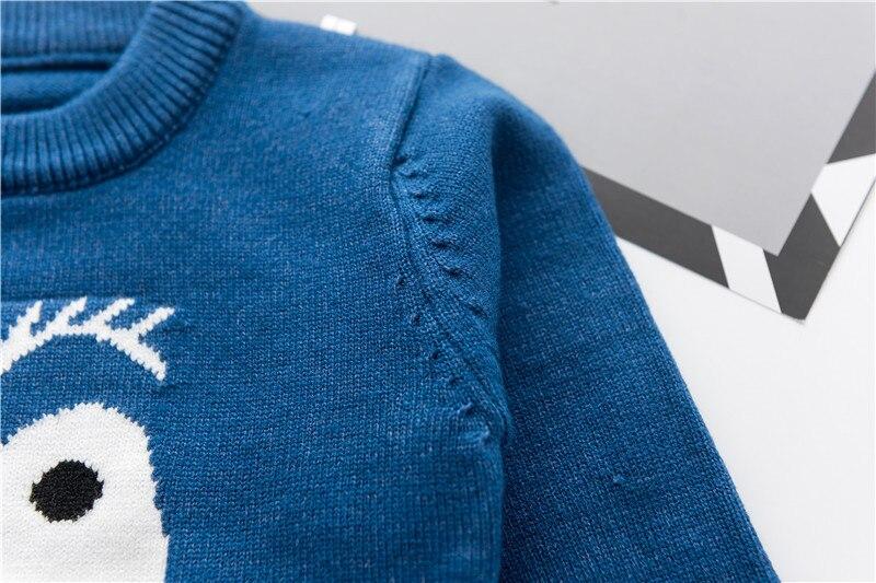 Moda uşaq kazak payız qış isti oğlanlar trikotaj tursweaters - Uşaq geyimləri - Fotoqrafiya 5