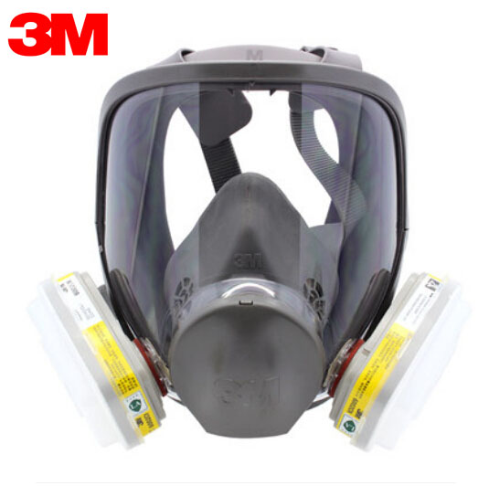 3M 6700+6002 Full Facepiece Reusable Respirator Filter Protection Mask Anti- Acid Gas NIOSH&LA Certificated R82403 3m 6002 acid gas cartridge respiratory protection niosh approved against certain acid gas cl2 so2 hcl h2s use with 3m mask m848