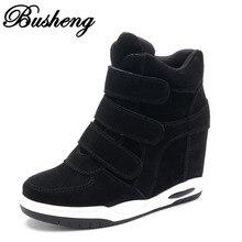 Hot sale Autumn Style Women Shoes Hidden Wedge Heels Boots Women's Elevator Shoes Casual Shoes For Women Ankle Boots Busheng022