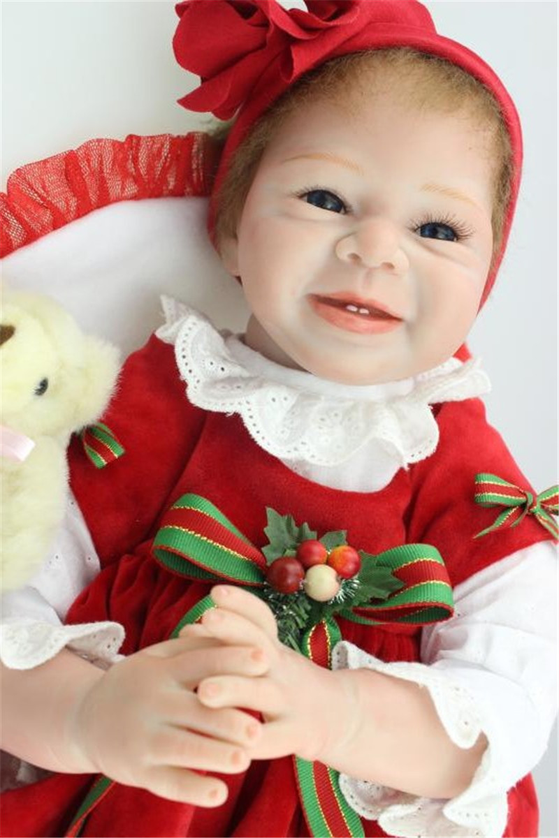 New Arrival Silicone Reborn Doll with Clothes,20 Inch Lifelike Baby Smile Doll Toy for Children Christmas Gift super cute plush toy dog doll as a christmas gift for children s home decoration 20