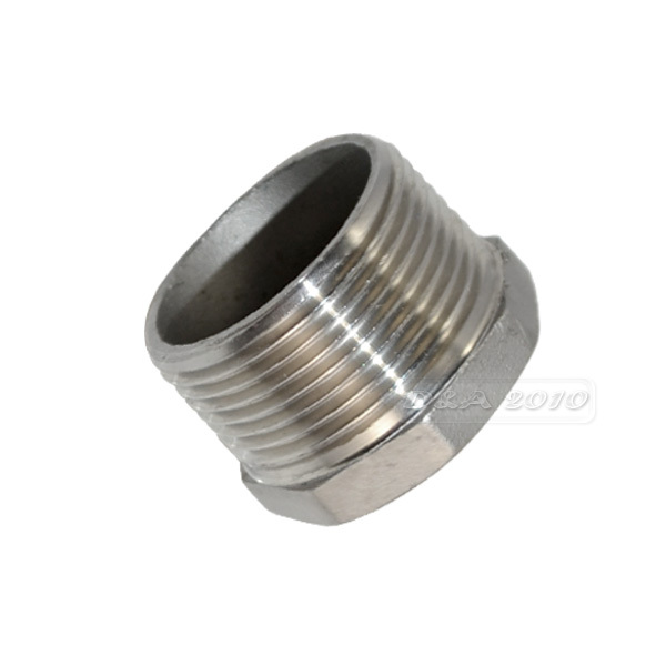 MEGAIRON 1-1/4 Male x 1/2 Female DN32 to 25 Reducer Bushing BSPT Thread Stainless Steel SS304 Pipe Fittings for Water Gas Oil 2 1 2 male x 1 1 2 female thread reducer bushing m f pipe fitting ss 304 bsp