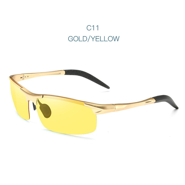 TSHING RAY Men Driving Polarized Sunglasses Men Al-Mg Frame Rimless Sports Mirror Coating Sun Glasses For Male UV400