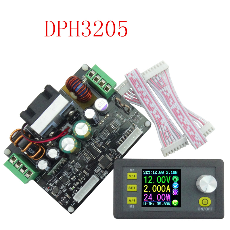 DPH3205 analog color Digital LCD Control Buck-Boost Constant Voltage current voltmeter Ammeter DC32V 5A Power Supply  6%off dph3205 digital control power supply buck boost converter constant voltage direct current programmable lcd voltmeter