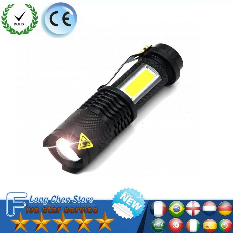 3800LM XML-Q5+COB LED Flashlight Portable Mini ZOOM Torchflashlight Use AA 14500 Battery Waterproof In Life Lighting Lantern
