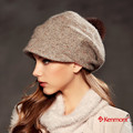 Kenmont Winter Autumn Women Lady Girl Fashion Solid Color Beige Earclap Beret Hat Cap 2349