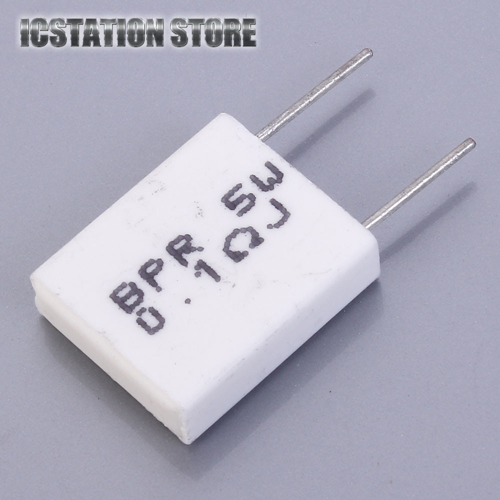 10pcs 5W 0.1 ohm 0.1R BPR56 Non-inductive Ceramic Cement Resistor 0.1R Electronic Component For DIY Kit chiaro паула 4 411011605