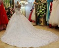 Charming Rhinestones Cap Sleeves Sparking Wedding Dress Sequined Royal Train Gorgeous Dress For Bridal  Shining Dress
