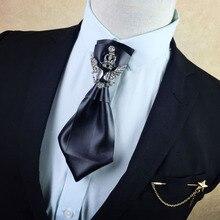 Cravate avec papillon Pour hommes, Vintage, Cravate Pajaritas diamant, accessoires de mariage, 2020
