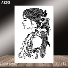 AZSG Sad Girl Clear Stamps/Seals For DIY Scrapbooking/Card Making/Album Decorative Silicone Stamp Crafts