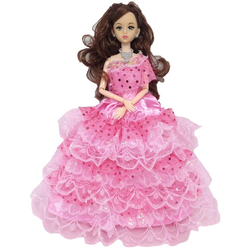 ᐅNK una PCs mezcla estilo princesa boda completa Encaje vestido de ...