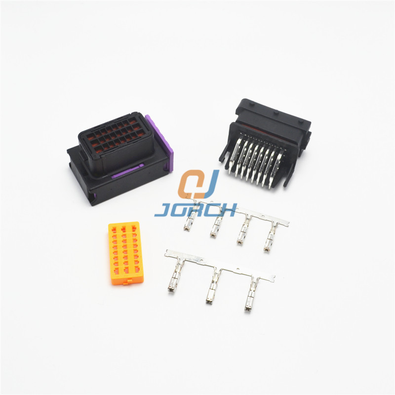 FCI 24 Pin Male Female Auto Ecu Connector Waterproof Pcb Pin Header Wire Harness Socket 211PC249S0033 HCCPHPE24BKA90F