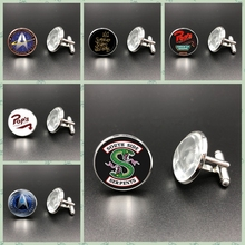 2019HOT! Arrival In The Valley Mens Cufflinks Valley Jewelry Glass Dome Silver Cufflinks Handmade Mens Gifts printio through the valley
