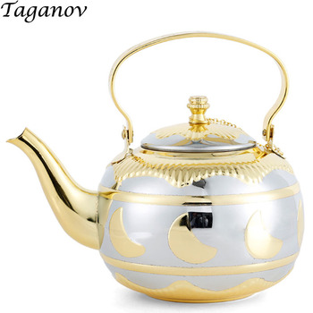 1.8L Teaware Teapots thick Stainless steel tea kettle with filter restaurant hotel household induction cooker water Milk tea pot