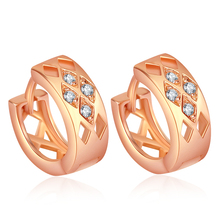 Фотография Fashion Hoop Earrings Women Female Bijoux 316L Stainless Steel Ear Jewelry Christmas Gift Not Allergic ED25