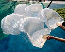 Ventilador de dança do ventre de seda, de alta qualidade, dança do ventre, 100% véus de seda real, esquerda + direita, cores à venda, 180*90 cm cor da imagem